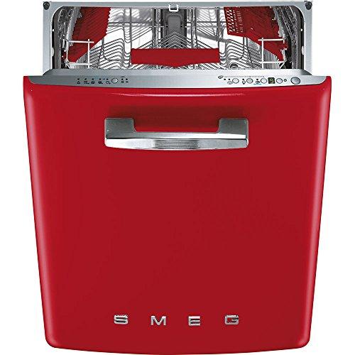 Smeg ST2FABRD Lave-vaisselle sous comptoir A+++ 43 dB 8,5 l Style rétro années 50, Rouge