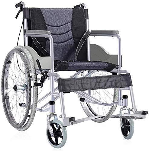 CLJ-LJ Sillas de ruedas ligeras silla de ruedas ergonómica portátil plegable de brazo largo y columpio de pierna almohada columpio de piernas reposo personas mayores con discapacidades silla de viaje