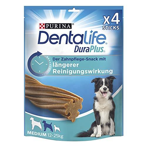 PURINA DENTALIFE DuraPlus Zahnpflege-Snacks mit Tiefenreinigungswirkung, Huhn, mittelgroße Hunde, 5er Pack (5 x 197 g)