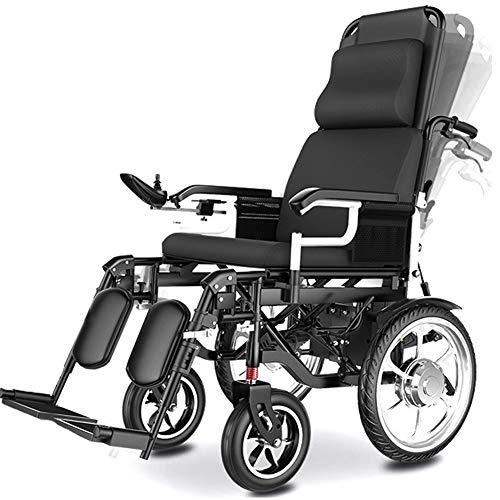LAYG Silla De Ruedas Eléctrica Plegable Inteligente Power Chair con Botón de Control Trasero,Silla Eléctrica para Ancianos Discapacitados Adultos Silla de Ruedas Eléctrica,700W Motor Potente /