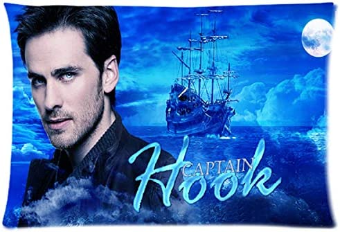 Custom Standard Size Pillow Cover Once Upon A Time Captain Hook Rectangle Pillow Cases 20 x30 product image