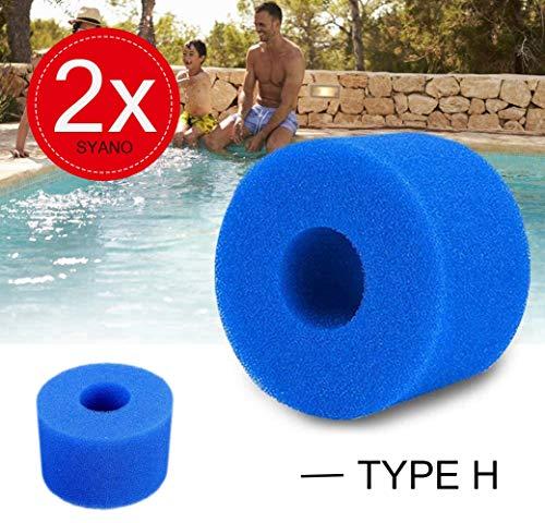 Filterschwämme Typ S1,waschbare Wiederverwendbare Schwimmbad Filter Intex Filterkartusche für Spa Whirlpools,10.8X4X7.3Cm Für Intex S1 Typ (2Stück)