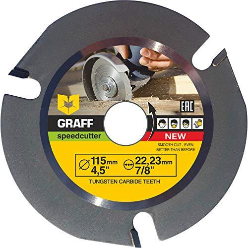 GRAFF SPEEDCUTTER Holz Sägeblatt Für Winkelschleifer 115 mm - Flex Scheibe Holz - Kreissägeblatt zum Schnitzen, Schneiden, Formen
