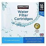Kirkland Signature Water Filter Cartridges for Brita Pitchers, 10 Refills