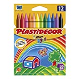 5x Estuches de 12 Ceras Plastidecor BiC Kids para colorear