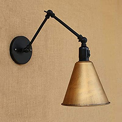 NIUYAO Vintage Industrial Wall Lighting Adjustable Swing Arm Retro Style Antique Wall Lamp Decor Lighting Fixture Wall Sconces for Study Room Bedside Wall Lighting ...