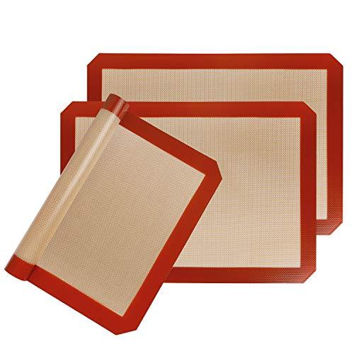 Statint - Alfombrilla de silicona para hornear antiadherente y resistente al calor (apta para lavavajillas)