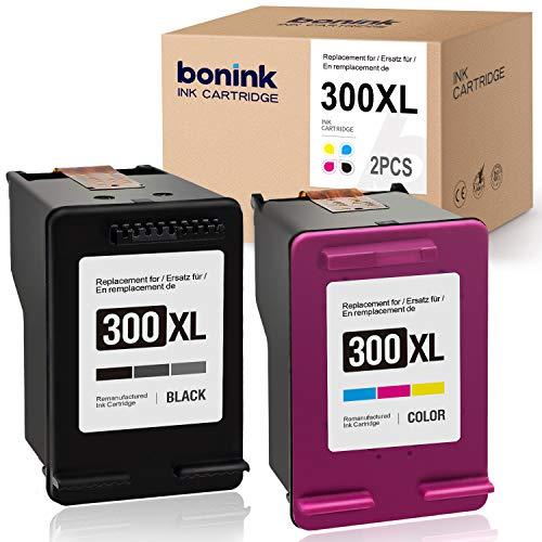 BONINK Compatible HP 300XL 300 XL Cartucho de Tinta para HP Deskjet F4580 F4280 F2480 F2420 F4224 D2560 D2660 D1660 (Negro/Color)
