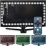 Luminoodle USB LED Hintergrund-Beleuchtung für TV in Farbe, 15 Farben, RGB LED-Bias Beleuchtung für HDTV-, TV-Bildschirm und PC-Monitor, LED-Strip selbstklebend (3 Meter)