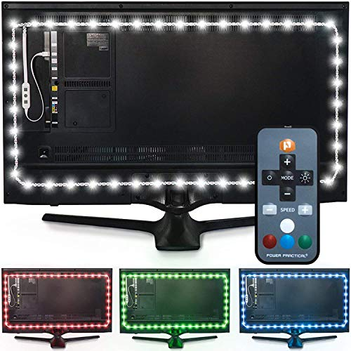 Luminoodle Color Bias Lighting - 15 Color LED TV Backlight with Remote...