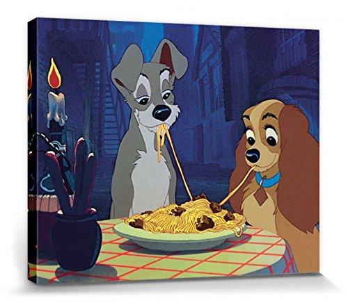 1art1 Susi und Strolch - Walt Disney Bilder Leinwand-Bild Auf Keilrahmen | XXL-Wandbild Poster Kunstdruck Als Leinwandbild 50 x 40 cm
