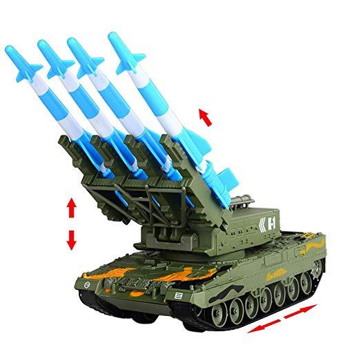 Zerodis- Scala 1:64 Modello Simulato di Lancio di Missili Assemblato dell'Esercito, Carro Armato di Confronto Militare Pressofuso in Lega Equipaggiamento Militare Simulato Regalo per Bambini