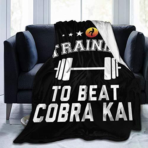 NUJSHF Manta de franela de forro polar para entrenar a vencer Cobra Kai, ligera, ultrasuave, cálida, apta para sofá