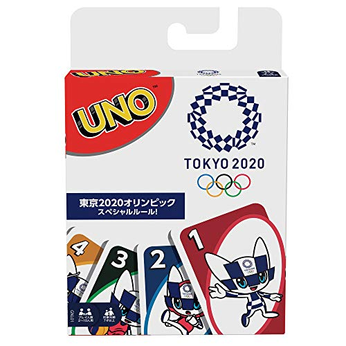 UNO Olympic Games Tokyo 2020 Card Game, with 112 Cards and Instructions for Players 7 Years and Older, Makes a Great Gift for Kid, Family or Adult Game Night -  Mattel, GNL01