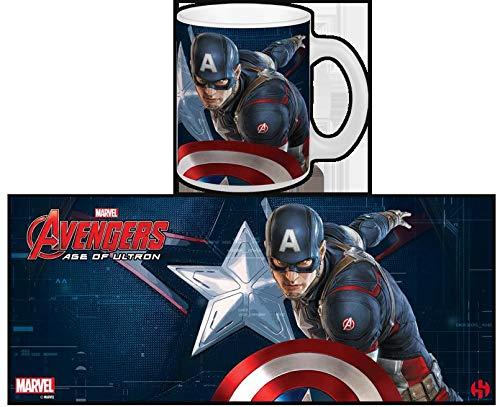 Semic Distribution - Smug070 - Ameublement Et Décoration - Mug Avengers 2 : Age of Ultron - Captain America