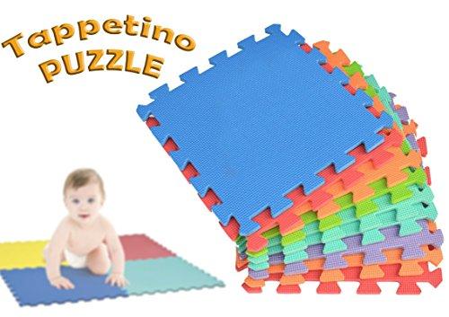 Mediawave Store 2814 Tappeto da Gioco Puzzle componibile colorato 10 Pezzi 30x30cm. MWS