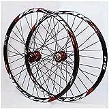 VTDOUQ Juego de Ruedas MTB para Bicicleta 26 27,5 Rueda de aleación de 29 Pulgadas Rueda de Bicicleta de montaña Freno de Disco 7-11 bujes de Cassette de Velocidad rodamiento Sellado QR