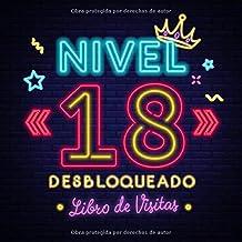 Nivel 18 desbloqueado: Libro de visitas para el 18 cumpleaños – Regalos originales para hombre - 18 años gamer decoración...