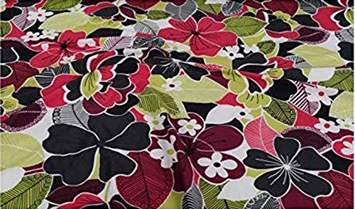 Fabrics-City% BUNT HOCHELASTISCH LYCRA STOFF BADEANZUGSTOFF BLUMEN STOFFE, 4147