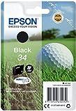 Epson 34 Serie Pallina da Golf, Cartuccia Originale Getto d'Inchiostro DURABrite Ultra, Formato Standard, Nero, con Amazon Dash Replenishment Ready