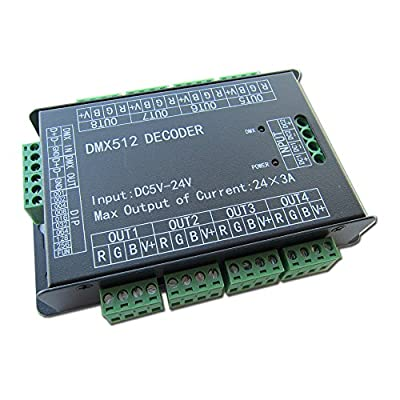 High Power 24 Channel 3A/CH DMX512 Controller Led Decoder Dimmer For Project