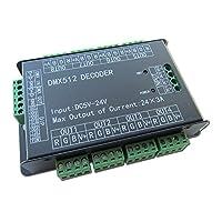 高パワー 24チャンネルRGB 24CH 3A/CH DMX512コントローラー制御デコーダー調光器500Hzチラつきスムーズな調光DMXシグナル・インジケーター・フラッシュ機能