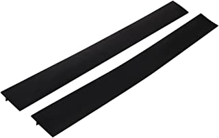 Kitchen Silicone Stove Counter Gap Cover, Happybase Gap Filler Seals Out Gap Cover between Stove and Counter, Easy Clean, Reusable, Non-Stick, Heat-resistant (21 inches, Black)