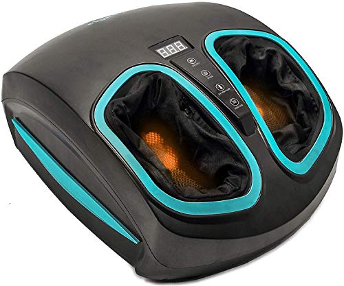 Shiatsu Foot Massager Machine with Heat - Electric Deep Kneading Massage Air...