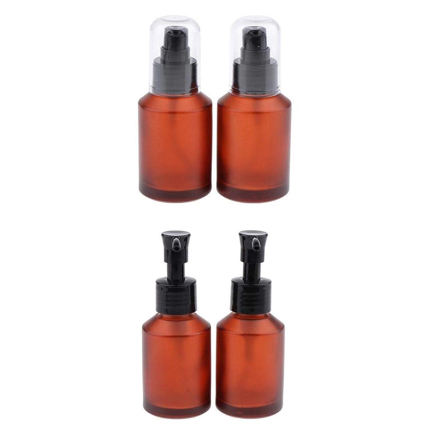 姿勢飢隣接T TOOYFUL 4個セット スプレーボトル スポイト瓶 遮光瓶 ガラス製 精油瓶 詰め替え アロマ保存容器 小分け用