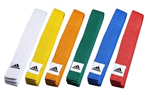 adidas farbiger Gürtel, Gelb, 240cm