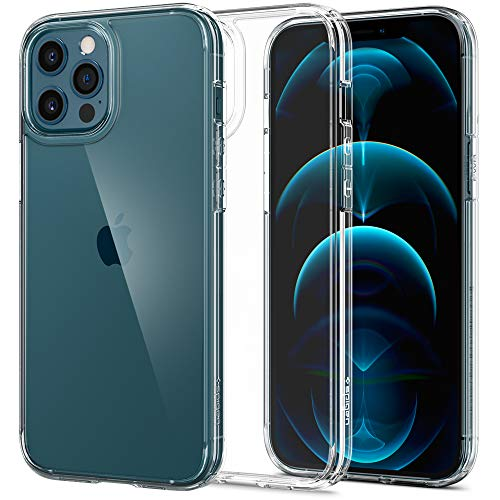 Spigen Funda Ultra Hybrid Compatible con iPhone 12 Pro MAX- Transparente