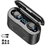 STEELMATES Auriculares Bluetooth Sport 5.0, auriculares inalámbricos impermeables IPX-5, True Wireless Stereo In-Ear, Hi-Fi Micrófono Integrado, Auriculares Touch, IOS y Android Compatible