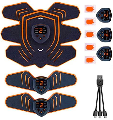 腹筋ベルト EMS 筋力トレーニング 男女兼用 筋肉トナー ダイエット器具 静音 自動的 液晶画面 LEDライト 6種類モード 9段階強度 ボディフィット 腹筋器具 EMS腹筋ベルト お腹 腕部 太ももエクササイズ用 USB充電式