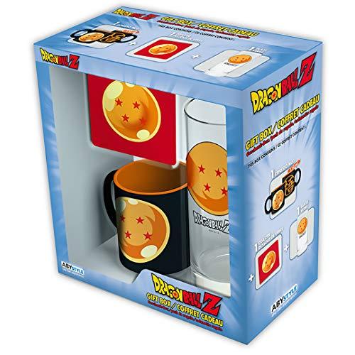 Dragon Ball Z - 3-Pc. Drinkware Gift Set (Includes Drinking Glass, Coaster, and Espresso Mug)