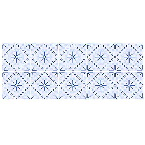 Haofy 10 unids/Set de Pegatinas Decorativas para Pared, Protector contra Salpicaduras Adhesivo, Impermeable, Antideslizante, Adhesivo para Azulejos de cerámica, decoración de baño de Cocina, 10x10cm