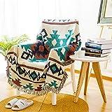 M-YN Funda de sofá Toalla de sofá Antideslizante de Punto geométrico, Alfombra de Cubierta de sofá, Manta de Lino de algodón Four Seasons Universal (Size : 160 * 220cm)
