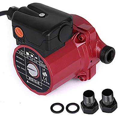 Happybuy RS15-6 Hot Water Recirculating Pump 110V Circulation Pump 3/4-Inch NPT 3-speed Recirculation Pump 9.5 Gpm for Water Heater System
