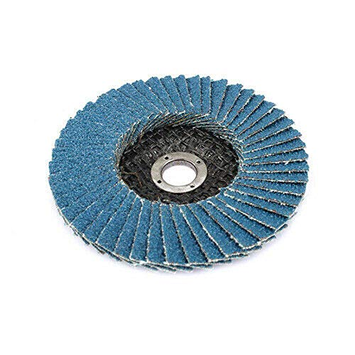 FLMQA Carta abrasiva 3pcs 3 '' dischi abrasivi dischi lamellari smerigliatrice angolare 75mm disco abrasivo legno abrasivo blu-strumento