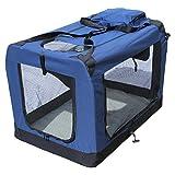 YATEK Transportin para Perros Plegable (102 x 69 x 69 cm) entradas Laterales y Superiores...