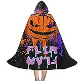 YRUI Flim-Flam Flamingo - Capa con capucha para niños, disfraz de Halloween, color negro