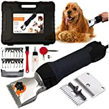 Pet & Livestock HQ | 380W Professional Dog Grooming Clippers Kit, XL, Large & Medium Dog Haircut Machine, Heavy-Duty, Electric Hair Trimmer for Dogs with Thick Coats, Horses, Equine, Cattle, 2 Blades