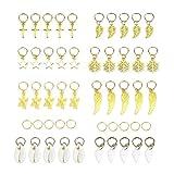 Frcolor 50pcs trenza del pelo anillos de la joyería múltiples colgantes decoraciones para el cabello anillos
