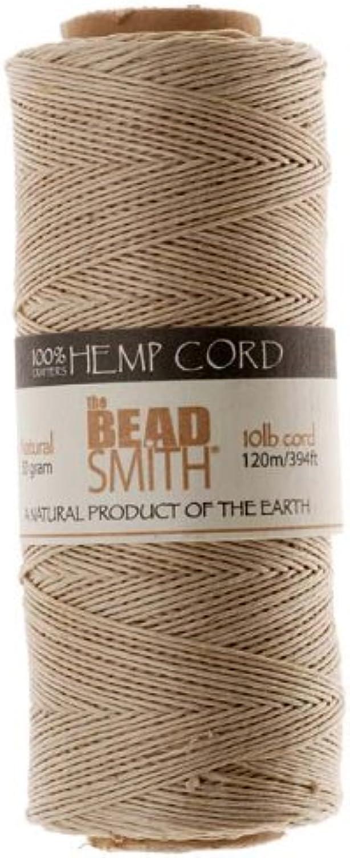Hemp Twine Bead Cord .5mm 120m NATURAL 42655