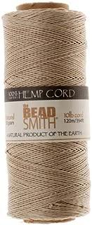 Beadsmith Hemp Twine Bead Cord .5mm 394 Feet NATURAL 42655