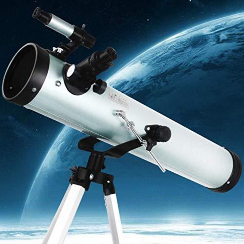 Telescopio astronomico per adulti, 125 mm calibro 700 mm lunghezza focale, telescopi per principianti e bambini di astronomia, telescopio a riflessione con treppiede regolabile (Colore : Confezione 2