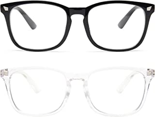 livho 2 Pack Blue Light Blocking Glasses, Computer Reading/Gaming/TV/Phones Glasses for Women Men,Anti Eyestrain & UV Glar...