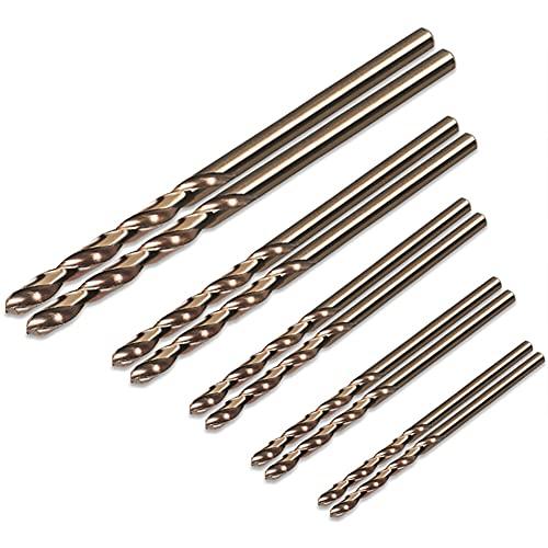 Juego de brocas helicoidales - Juego de brocas de cobalto M35 de acero cobalto HSS de alta velocidad de 1 mm a 3 mm, brocas HSS Jobber, herramientas eléctricas para trabajar la madera, 50 piezas