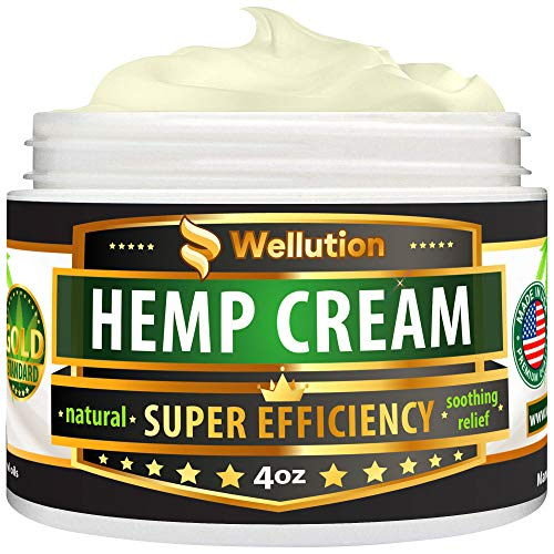 Hemp Cream 3,000,000 Super Efficiency - Natural Seed Oil Extract for Knee, Lower Back, Foot, Muscle, Wrist and Joint Pain Relief - Extra Strength Massage Lotion with Arnica, Menthol and Natural Oils