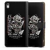 DeinDesign Etui Compatible avec Sony Xperia XA Ultra Etui Folio Etui magnetique Japon Dragon Mer