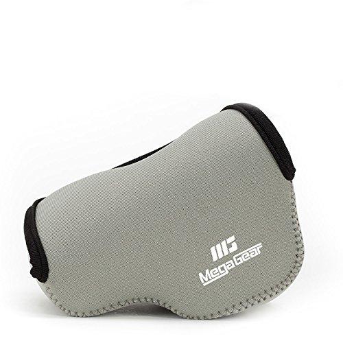 MegaGear custodia ultraleggera in neoprene, borsa protettiva per Sony Alpha A6400, A6500, A6300, A6000 |16-50 mm| con moschettone per un facile trasporto (Grigio)